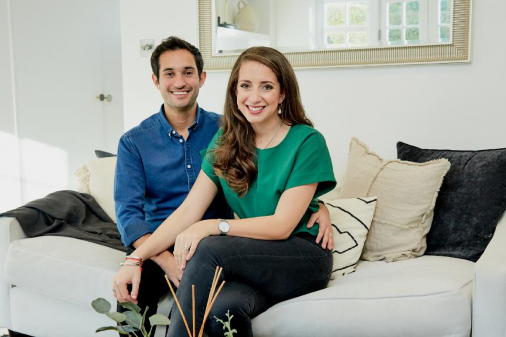 ictoria and Ollie Tenzer at home